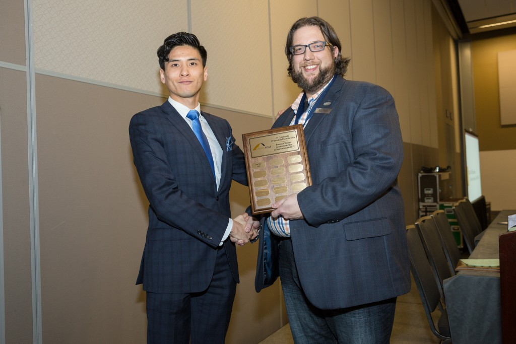 ACFO Director of Communications Joe Boughner with 2016 scholarship recipient Jack Diao
