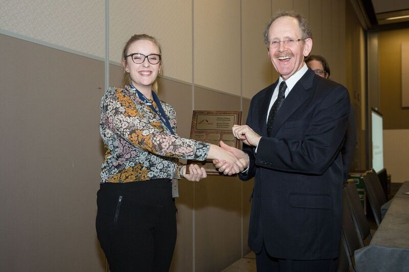 Former ACFO President Merdon Hosking with 2016 scholarship recipient, Marie-Ève Trahan