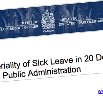 Parliamentary Budget Officer reports on sick leave (plus updates on collective bargaining)